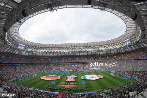 General view of Luzhniki Stadium during the Russia 2018 World Cup Group F football match between Germany and Mexico at the Luzhniki Stadium in Moscow...