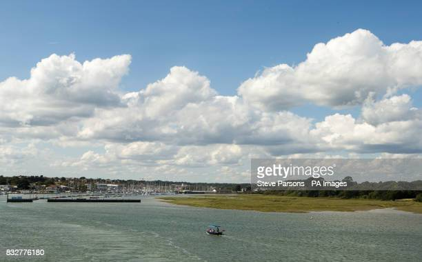 A general view of Lymington Harbour in Dorset