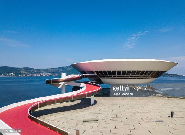 General view of MAC on March 19, 2020 in Niteroi, Brazil. Rio de Janeiro's state government and Niteroi city council officials recommend to avoid...