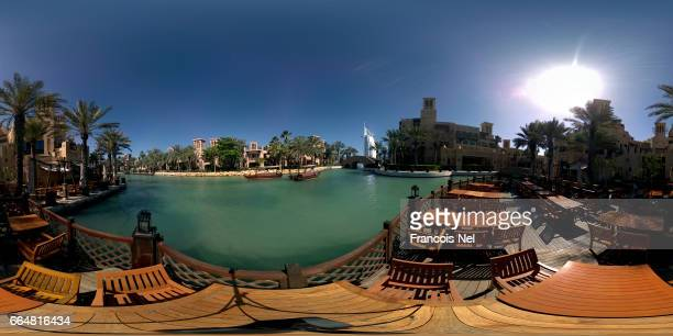 A general view of Madinat Jumeirah on April 4 in Dubai United Arab Emirates