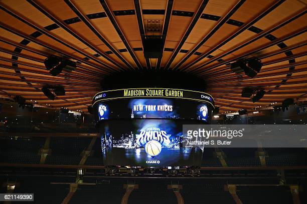 General view of Madison Square Garden before the Memphis Grizzlies against the New York Knicks on October 29, 2016 in New York City, New York. NOTE...