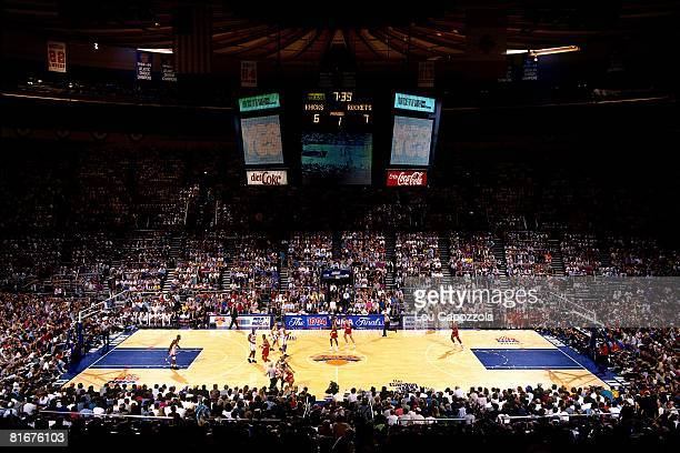 A general view of Madison Square Garden during Game Five of the 1994 NBA Finals between the Houston Rockets and New York Knicks at Madison Square...