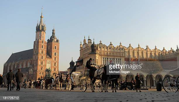 A general view of Main Market Square on November 7 2011 in Krakow Poland Krakow has been announced as the England football teams base for the 2012...