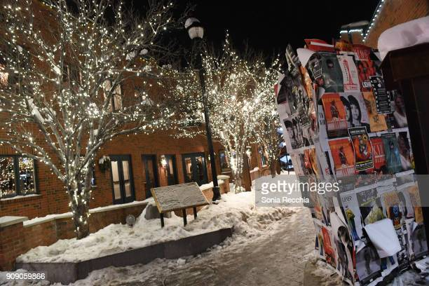 A general view of Main Street at the 2018 Sundance Film Festival on January 22 2018 in Park City Utah