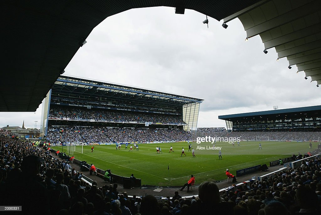 General view of Maine Road : News Photo