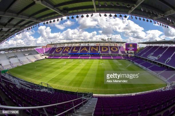 A general view of Major League Soccer Orlando City Stadium on February 28 2017 in Orlando Florida