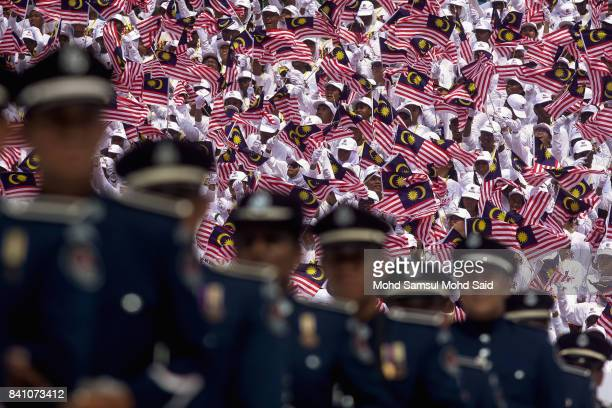A general view of Malaysian celebrations at Merdeka Square on August 31 2017 in Kuala Lumpur Malaysia Hari Merdeka is a national day of Malaysia to...