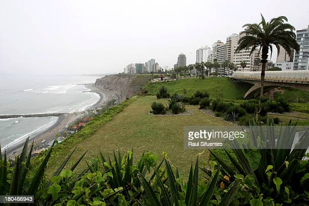 General view of Malecon de Miraflores on September 11 2013 in Lima Peru Lima will be the host city of the I ODESUR Youth South American Games from...