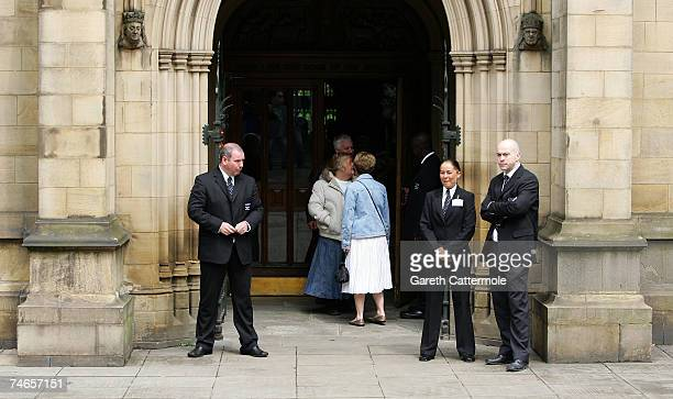 A general view of Manchester Cathedral before the wedding of footballer Gary Neville and Emma Hadfield on June 16 2007 in Manchester England