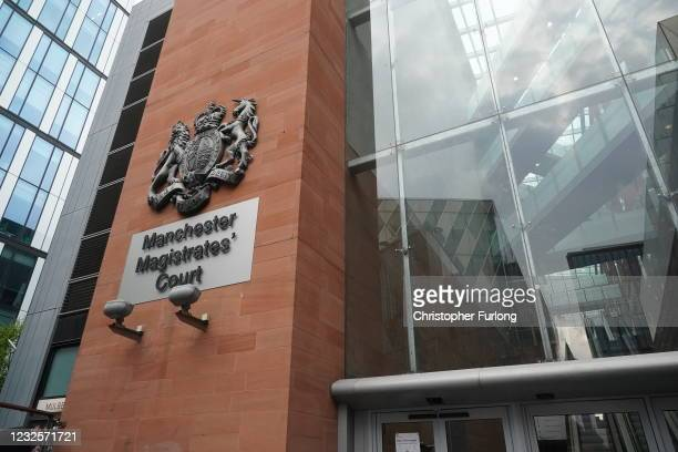 General view of Manchester Magistrates' Court where Wales manager Ryan Giggs is set to appear, charged with assault and coercive control, on April...