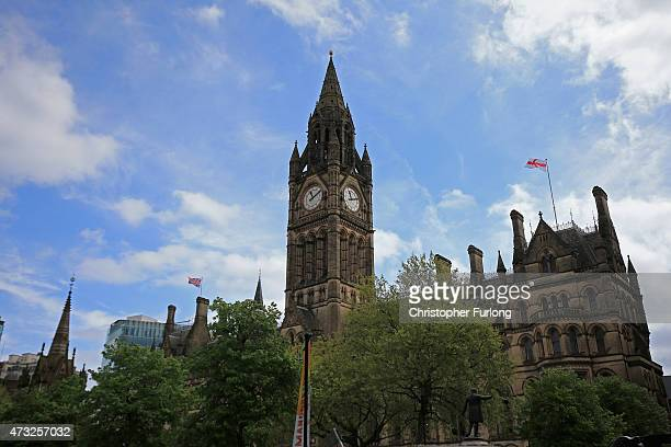 A general view of Manchester Town Hall on May 14 2015 in Manchester England In his first major speech since the election Chancellor George Osborne is...