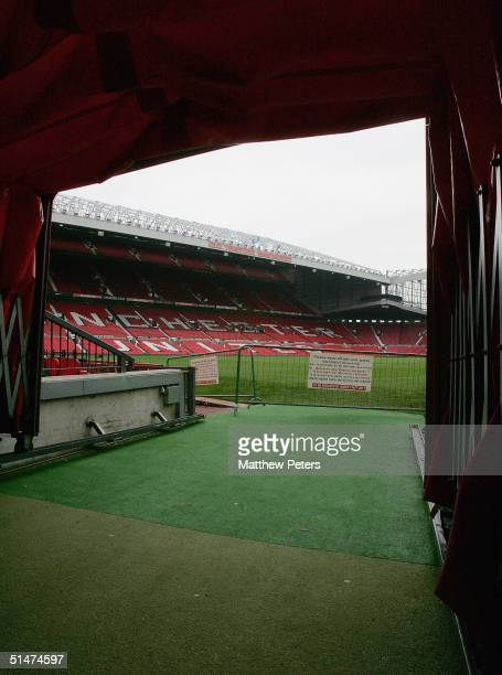 A general view of Manchester United's Old Trafford stadium on Wednesday 13 October 2004 in Manchester England