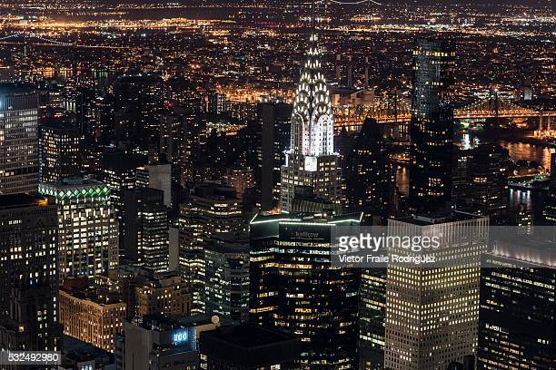 General view of Manhattan Island at night from the Empire State Building on June 15 2012 in New York United States of America Photo by Victor Fraile