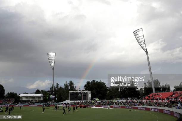 A general view of Manuka Oval before the Sydney Thunder v Melbourne Stars Big Bash League Match at Manuka Oval on December 21 2018 in Canberra...
