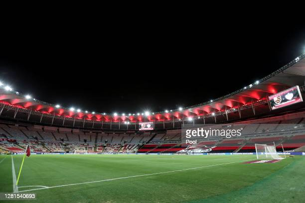 General view of Maracana Stadium before a Group A match of Copa CONMEBOL Libertadores 2020 between Flamengo and Junior on October 21, 2020 in Rio de...