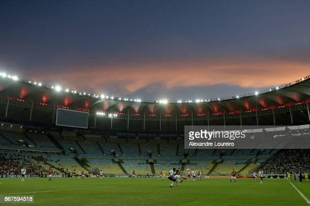 A general view of Maracana stadium during the match between Flamengo and Vasco da Gama as part of Brasileirao Series A 2017 at Maracana Stadium on...