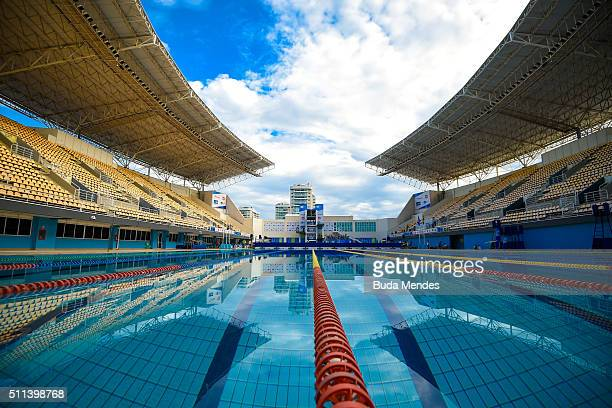 General view of Maria Lenk Aquatics Centre during the 2016 FINA Diving World Cup on February 20 2016 in Rio de Janeiro Brazil The 2016 FINA Diving...