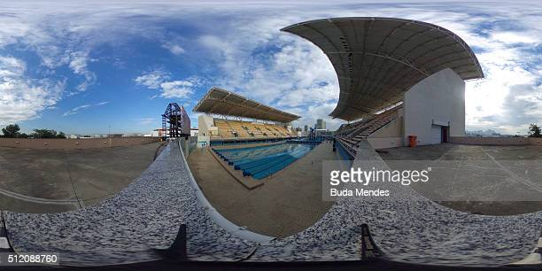 General view of Maria Lenk Aquatics Centre during the 2016 FINA Diving World Cup on February 24 2016 in Rio de Janeiro Brazil The 2016 FINA Diving...