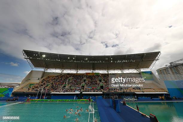 General view of Maria Lenk Aquatics Centre on Day 7 of the Rio 2016 Olympic Games at Maria Lenk Aquatics Centre on August 12 2016 in Rio de Janeiro...