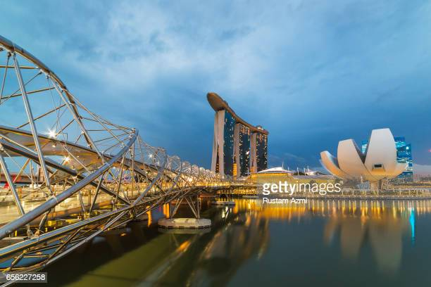 A General View of Marina Bay Sand at Sunrise on September 20 2016 in Singapore Singapore