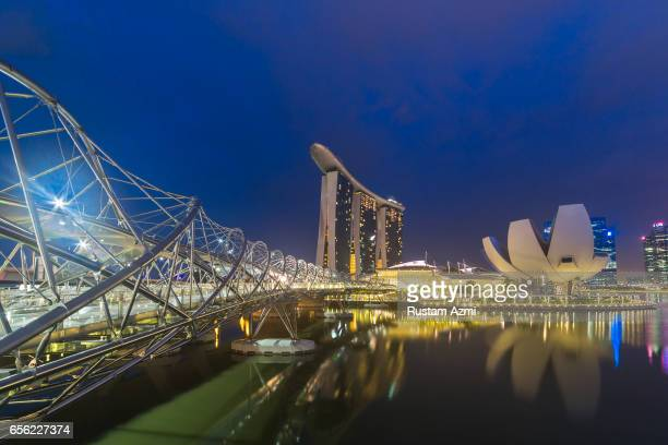 General View of Marina Bay Sand at Sunrise on September 20, 2016 in Singapore, Singapore.