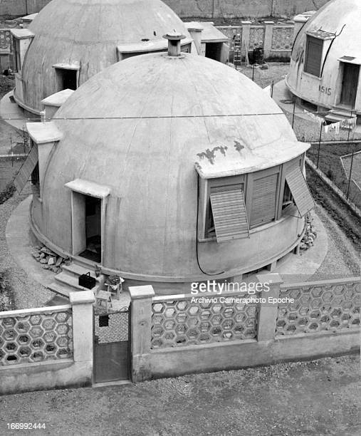 General view of Mario Cavalle's Igloo houses Quartiere Maggiolina Milan Italy