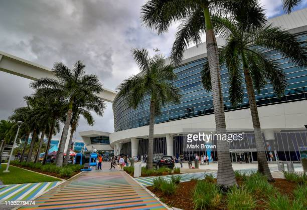A general view of Marlins Park before the game between the Miami Marlins and the Colorado Rockies during Opening Day at Marlins Park on March 28 2019...