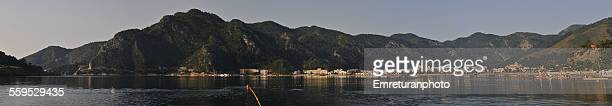 general view of marmaris bay entrance & icmeler - emreturanphoto stock pictures, royalty-free photos & images