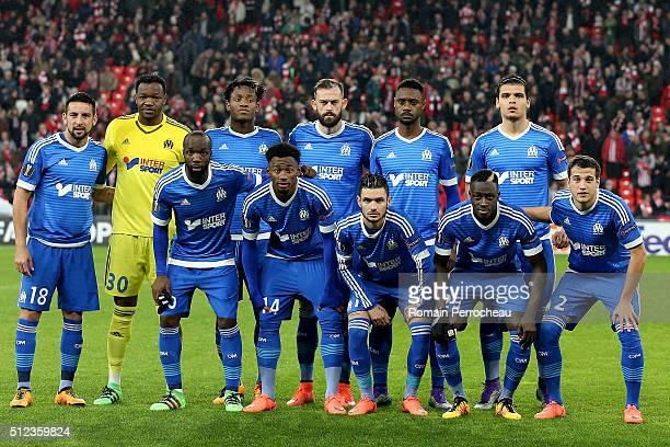 General view of Marseille's team Mauricio Isla Steve Mandanda Michy Batshuayi Steven Fletcher Nicolas Nkoulou Karim Rekik Lassana Diarra GeorgesKevin...