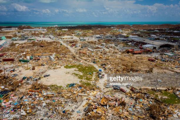 General view of Marsh Harbour aftermath of Hurricane Dorian on September 10 2019 in Grand Bahama Bahamas The official death toll has risen in the...