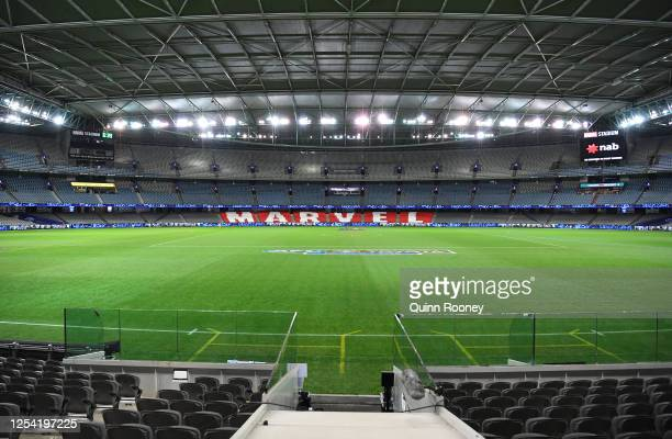 General view of Marvel Stadium during the round 5 AFL match between the Western Bulldogs and the North Melbourne Kangaroos at Marvel Stadium on July...