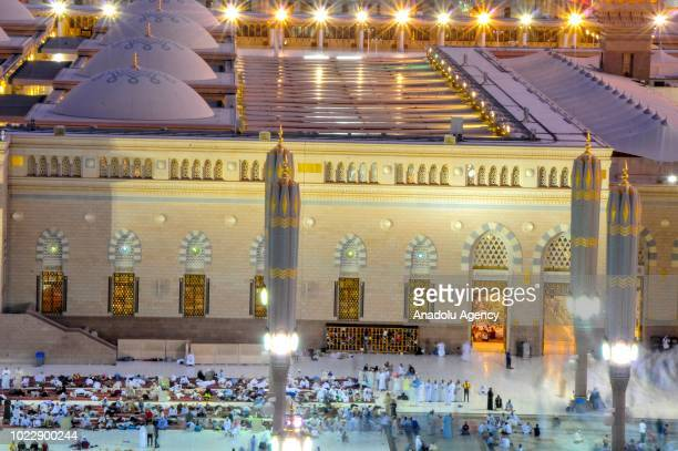 General view of Masjid alNabawi the mosque where hosts Holy Prophet Muhammad's tomb on the fourth day of Eid AlAdha during Muslim pilgrims' visit...