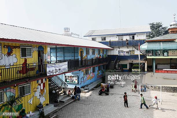 General view of MASTER school on February 20 2014 in Depok West Java Indonesia The school is known as Masjid Terminal school or MASTER since it is...