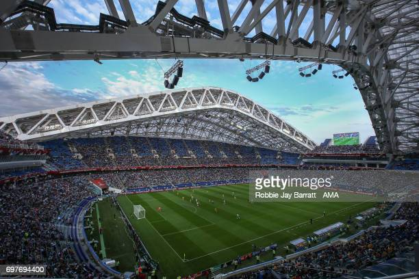 General view of match action at Fisht Stadium home stadium of Russia host stadium for the FIFA World Cup 2018 during the FIFA Confederations Cup...
