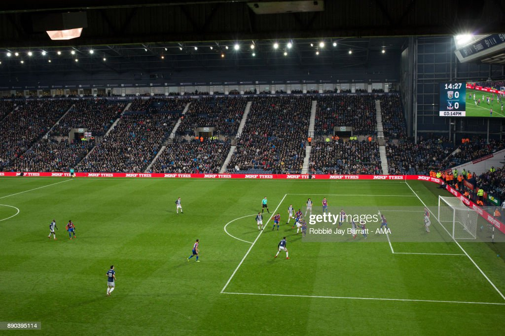 General view of match action at The Hawthorns, home stadium of West Bromwich Albion during the Premier League match between West Bromwich Albion and Crystal Palace at The Hawthorns on December 2, 2017 in West Bromwich, England.