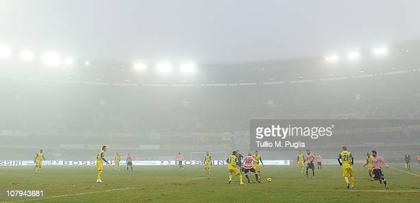 General view of match action during the Serie A match between AC Chievo Verona and US Citta di Palermo at Stadio Marc'Antonio Bentegodi on January 9,...