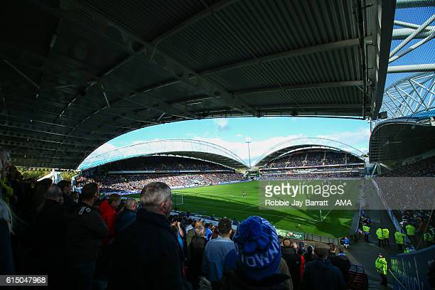 A general view of match action during the Sky Bet Championship match between Huddersfield Town and Sheffield Wednesday at John Smith's Stadium on...
