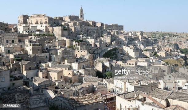 A general view of Matera Sassi during FIGC 120 Years Exhibition on June 19 2018 in Matera Italy