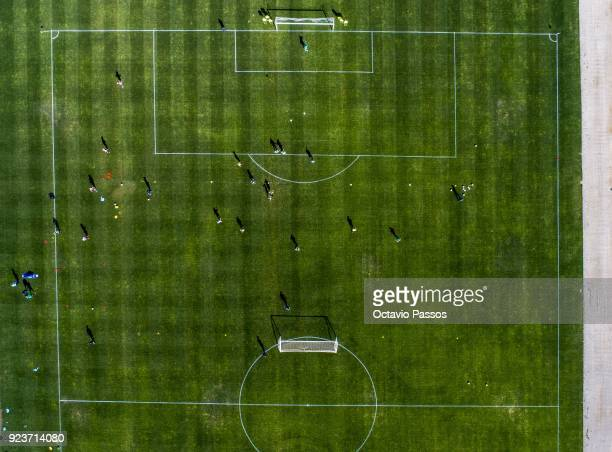 A general view of Matildas players during a Matildas training session on February 24 2018 in Faro Portugal