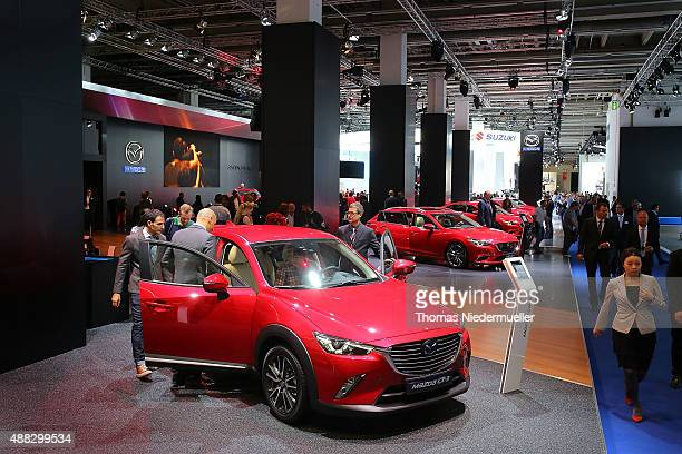 General view of MAZDA Motor Corporation booth during the Frankfurt Motor Show on September 15 2015 in Frankfurt am Main Germany