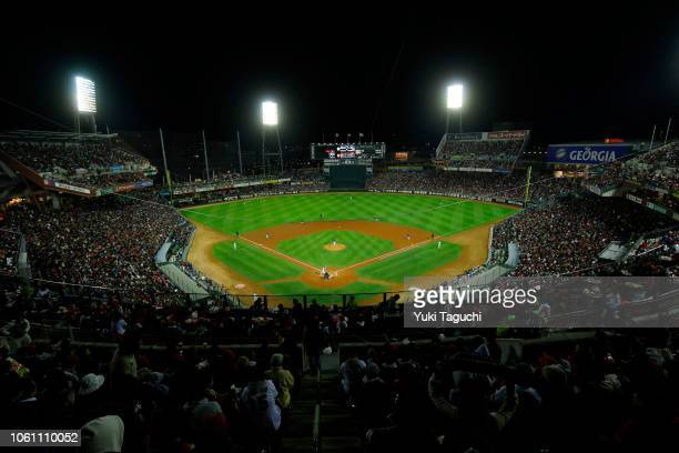 A general view of Mazda Zoom Zoom Stadium during Game 4 of the Japan AllStar Series between Team Japan and the MLB AllStars at Mazda Zoom Zoom...