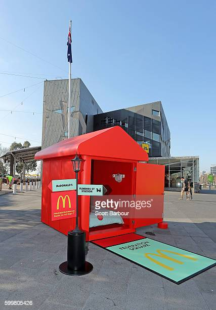 A general view of McDonalds Monopoly Hotel at Federation Square on September 7 2016 in Melbourne Australia Built to celebrate the return of the...