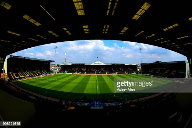 A general view of Meadow Lane during a PreSeason match between Notts County and Derby County at Meadow Lane Stadium on July 14 2018 in Nottingham...