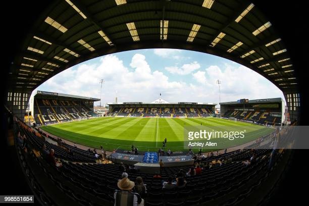 General view of Meadow Lane during a PreSeason match between Notts County and Derby County at Meadow Lane Stadium on July 14 2018 in Nottingham...