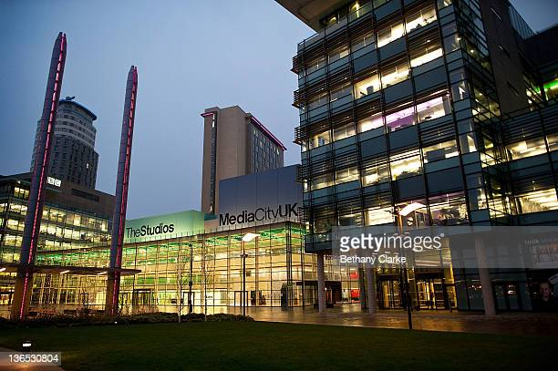 General view of Media City on January 6, 2012 in Salford, Manchester, England. The Media City complex is the new base for up to 2,300 BBC staff, with...