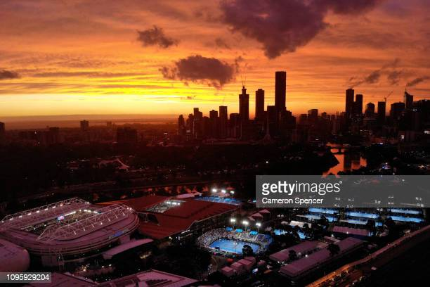 A general view of Melbourne Park during day five of the 2019 Australian Open at Melbourne Park on January 18 2019 in Melbourne Australia