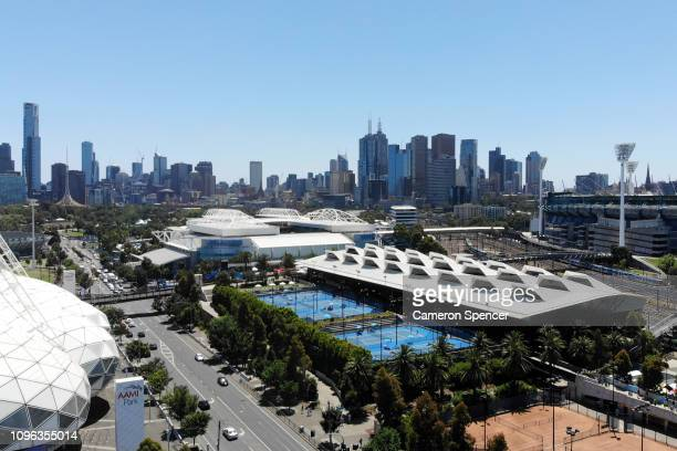 A general view of Melbourne Park during day six of the 2019 Australian Open at Melbourne Park on January 19 2019 in Melbourne Australia