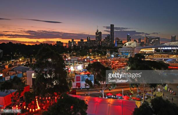 A general view of Melbourne Park during day two of the 2019 Australian Open at Melbourne Park on January 15 2019 in Melbourne Australia