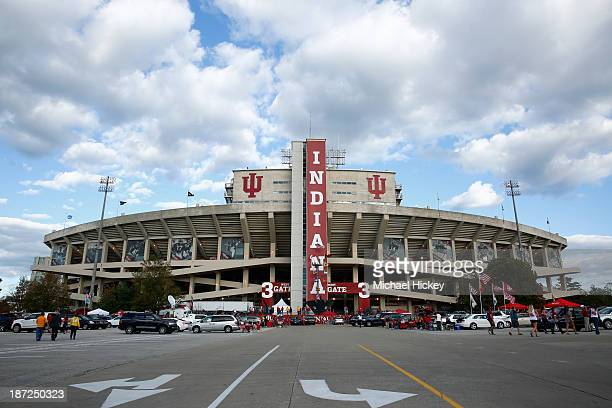 A general view of Memorial Stadium before the game between the Indiana Hoosiers versus the Missouri Tigers on September 21 2013 in Bloomington Indiana