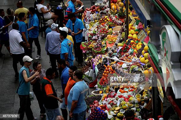 A general view of Mercado Municipal ahead of the FIFA 2014 World Cup Brazil on December 16 2013 in Sao Paulo Brazil